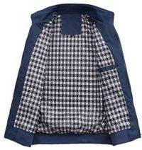 MMei Men's Casual Jacket Stand Collar Zipper Design Regular Coat Outerwear
