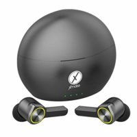 Xmate Buzz in-Ear Touch Control True Wireless Bluetooth Headphones (TWS) with Mic – (Black/Green)