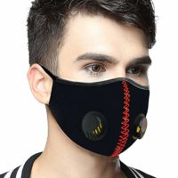 SanNap N95 Anti Pollution Face Mask, Reusable & Washable With Twin Breathing Valves, Black